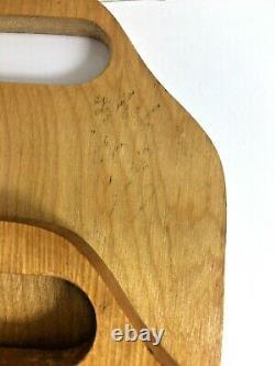 12 Vintage Teak Wood Individual Divided Dinner Serving Tray Mid Century Modern