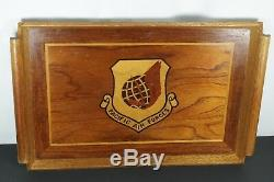 1970's Wooden Serving Tray or Plaque Clark Air Force Base Pacific Air Forces