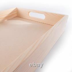 1/2/Set Wooden Serving Tray in 3 Sizes/ Tea Breakfast Kitchen Platter /Decoupage