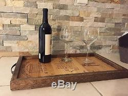 1st Growth French Wine Crate Panels Originals & White Oak handmade Serving tray