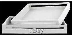 2-Pc Wood Square Serving Tray ID 3400670
