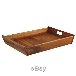 2x Davis & Waddell 51cm Taste Acacia Wood Rectangle Serving Tray Food Tableware