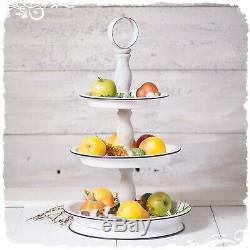 3 Tier Serving Tray Metal Wood Tiered Display Organizer Farmhouse Style Decor