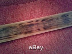 42 1/2 Vintage Wood French Baguette Bread Dough Rising Proofing Tray Serving