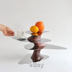 ALESSI Floating Earth POLISH STEEL & WOOD CENTERPIECE / SERVING TRAY RRP £420