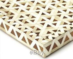 Amal Wood and Bone Inlay Serving Tray in Wood ID 3816257