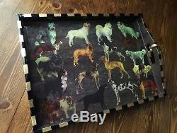 Annie Modica DOG Lover Gift Vet Best In Show Wood Serving Tray ART Bar Decor NEW