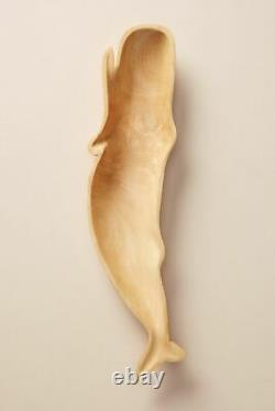 Anthropologie Beluga Serveware NWT whale serving tray mongo wood