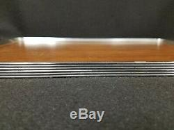 Antique Chase Art Deco Modernist Serving Tray Chrome & Wood
