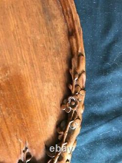 Antique Chinese wooden serving tray