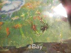 Antique Fairy Serving Tray or Vanity Love Fairies 17 X 11 Lovely