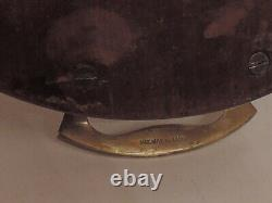 Antique Large Mahogany Wooden withInlay Butler Serving Tea Tray withBrass Handles
