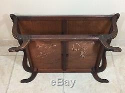 Antique Mahogany Butler Serving Tray Table 2 Tier Side End Tea Table Bar VINTAGE
