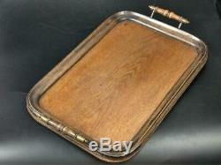 Antique Oak Wood Serving Tray Early 19th Century