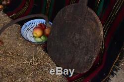Antique Serving Board Wooden Bread Board Rustic Farmhouse Oven Tray with Handle