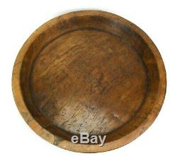 Antique Thai teak wood platter, 54cm diameter. Hand crafted in Thailand. Old. XL