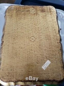 Antique Vintage Gold Colored Italian Made in Florence Italy Serving Tray FREE SH