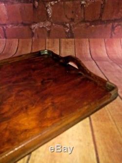 Antique Vintage Old Wooden Serving Servants Butler Tray Prop Display Breakfast