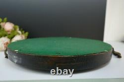 Antique Wood Serving Tray With Handles