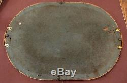 Antique hand carved made wood sterling bronze serving dish tray platter 1800's