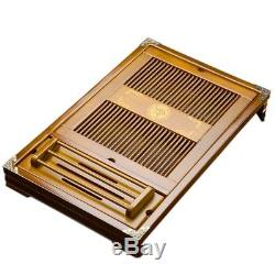 Authentic Japanese Chinese Gongfu Table Serving Tray Box for Kungfu Tea Wood NEW
