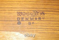 BK Woodline Birgit Krogh 16 Teak Wood Serving Tray Denmark Mid Century Modern