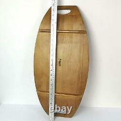 Baribocraft Canadian Maple Wood Serving Tray 24x11 Curved Vintage Midcentury