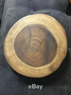 Barrel Shack The Rock Wooden Cheese and Wine Serving Tray Platter MSRP $315