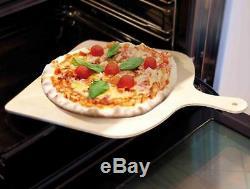Big Pizza Peel Wood Paddle Board Tray, Pizza Maker Serving & Cutting 37x38 cm