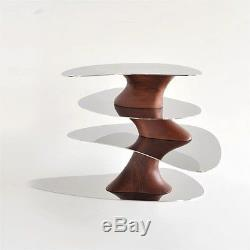 Bnib Alessi Floating Earth Steel And Wood Centerpiece / Serving Tray Rrp £420