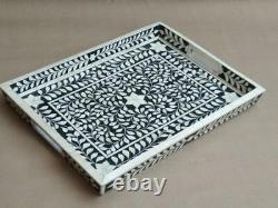 Bone Inlay Serving Tray Design Beautifully Crafted Tray Home Decorative Gifts