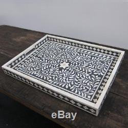 Bone Inlay Wooden Modern Antique Handmade Kitchen Serving Tray