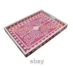 Bone inlay tray, serving tray, rectangle tray beautifully handcrafted home decor