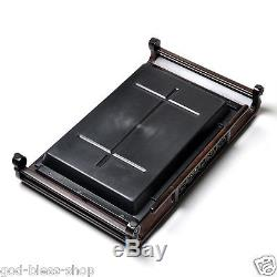 Boutique ebony tea tray wood tea table cup holder L52.5cmW32cm handmade carved