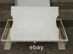 Breakfast Bed Lap Serving Tray Removable Tray Adjustable Book Stand White