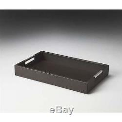 Butler Serving Tray, Black Leather 2784034