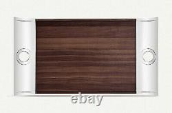 CHRISTOFLE Stainless Steel And Wood Rectangular Tray 58 x 31cm Brand New In Box