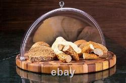 Cake Serving Tray End Grain Luxury Handmade Round Cake Tray High Quality