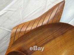 Carved Koa Wood Fish Tray Serving Bowl Blair Honolulu Hawaii Tiki Ocean Figural