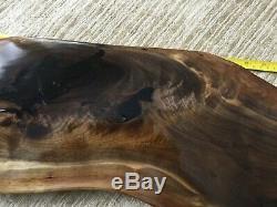 Charcuterie board serving tray black walnut