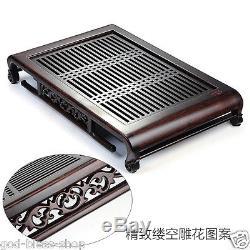 China tea set ebony black the tea table solid wood tea party table set tea tray