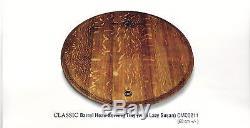 Classic Oak Wood Barrel Head Serving Tray withLazy Susan