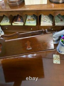 Colonial Williamsburg Virginia Metalcrafters Mahogany Gallery Serving Tray