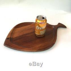DIGSMED teak wood FISH SERVING TRAY platter mid century Danish modern Quistgaard