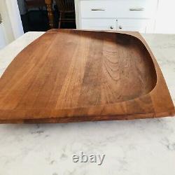 Dansk Denmark Wood Cutting /Charcuterie Board Jens Quistgaard 1960s 22.5 X 16