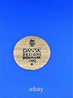 Dansk Festivaal Royal Blue Teak Serving Tray Vintage