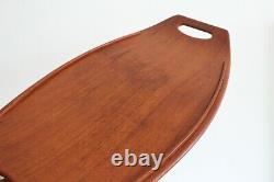 Dansk Staved Vtg Mid Century Danish Modern Teak Wood Serving Tray Denmark JHQ