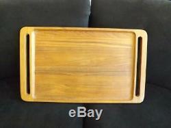 Dansk Teak Wood Serving Bed Tray IHQ Jens Quistgarrd Mid Century Modern 25x15