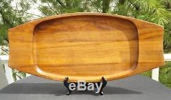 Dansk XL Teak Wood Serving Tray 12x27 Quistgaard Ihq Denmark MID Century Modern