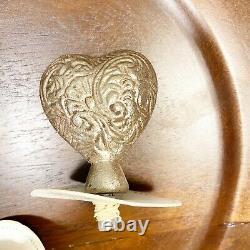 Demdaco In This Moment Mango Wood Platter heart tree pumpkin flower bird tokens